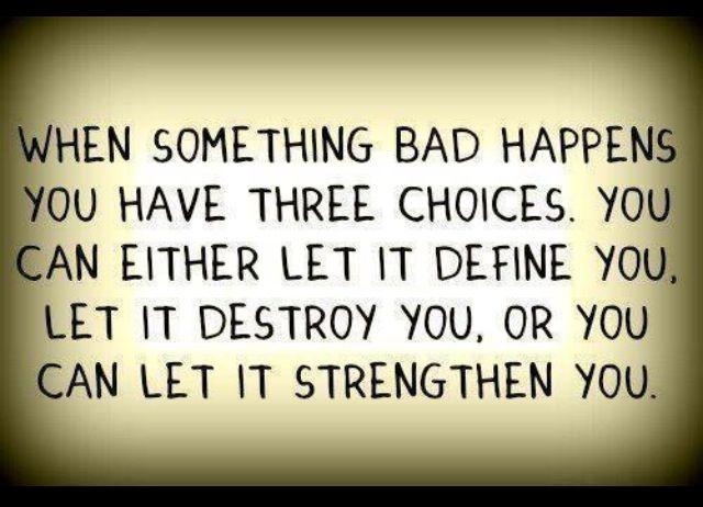 Thought for the week - Three choices